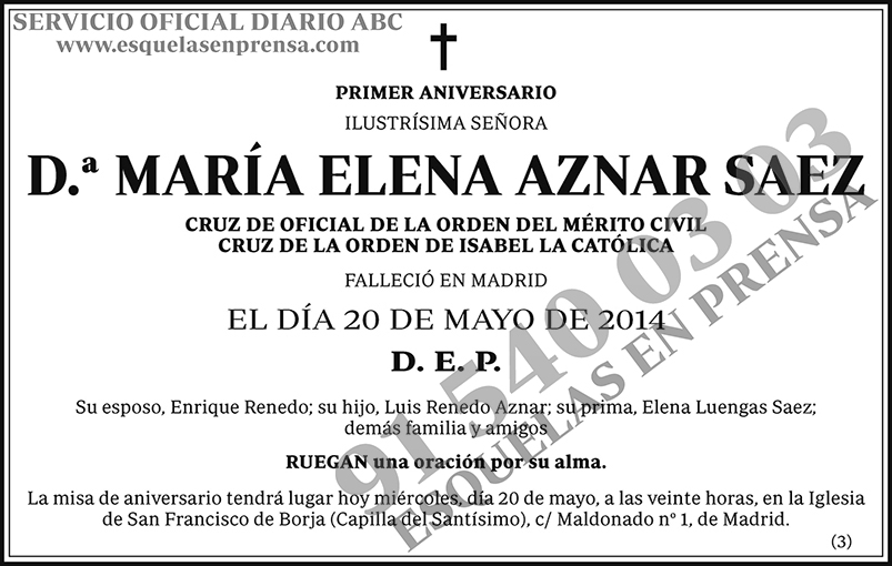 María Elena Aznar Saez
